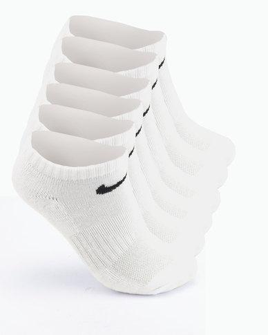 Nike DF Performance Basic No Show Socks White