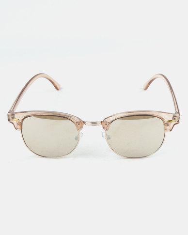 96e05d4e921d28 Queenspark Gold Double Metal Frame Gold Sunglasses