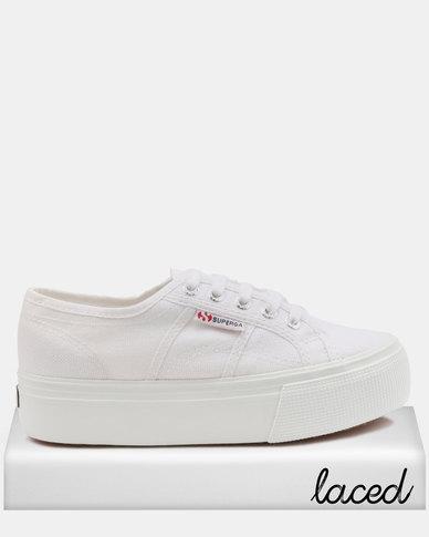 fe8b5f7e4ed0 Superga Classic Full Wedge Sneakers White