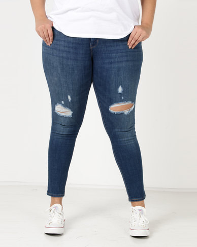 42b1b29b09f0c Levi's ® Plus 310 Shaping Super Skinny Jeans Blue Lightning | Zando