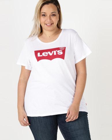 4ea1b948 Levi's ® Plus Perfect Logo Tee White   Zando