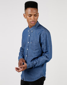 Levi's ® Classic One Pocket Shirt Clean Denim Mid