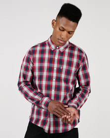 Levi's ® Classic One Pocket Shirt Rabbit Crimson Plaid