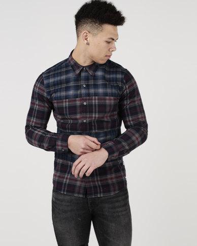 Levi's ® Pieced Shirt Heather Flannel Multi