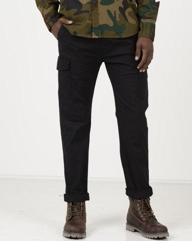 Levi's ® 502 Regular Taper Fit Cargo Pants Black