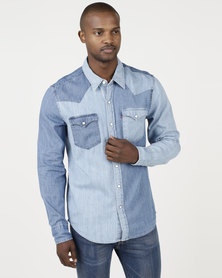 Levi's ® Classic Western Shirt Indigo Stone Takedown