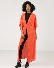 Utopia Chiffon Kimono Orange