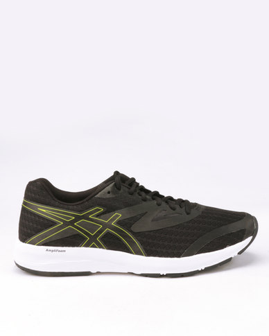new concept d0e8a 65b25 ASICS Amplica Running Shoes Black/Neon Lime
