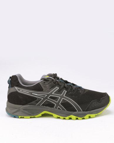 ef8990e70e Asics Performance Gel-Sonoma 3 Trail Running Shoes Black Neon Lime ...