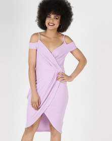 AX Paris Wrap Around Dress Lilac