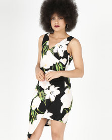 AX Paris  Midi Dress Black Floral