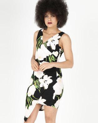 AX Paris  Midi Dress Black Floral