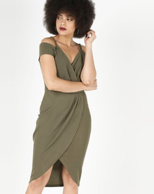 AX Paris Wrap Around Dress Khaki