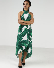 AX Paris Leaf Printed Dress White