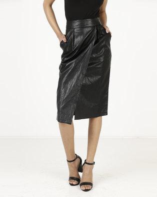 a8d63d1245 Closet London Wrap Pencil Skirt Black