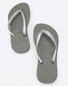 Havaianas Slim Flip Flops Steel Grey