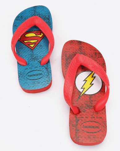 5b6653edf36a9b Havaianas Kids Heroes Flip Flops Ruby Red