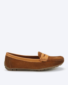 Dolce Vita Tunis Slip On Genuine Leather Shoes Choc