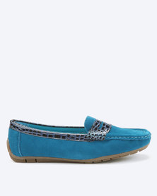 Dolce Vita Tunis 506 Slip On Genuine Leather Shoes Royal Blue