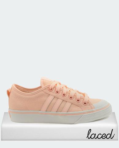 0a9a64e08a4e adidas Originals Nizza W Sneakers Pink   Clear Orange   Crystal White
