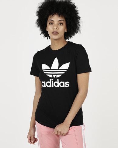 adidas Originals Ladies Adicolour Classic Tee Black