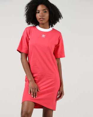 d90018af526 adidas Originals Ladies Trefoil Dress Core Pink White