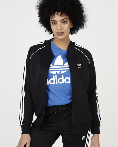 57b6d4111b22 adidas Originals Ladies SST Track Top Black White