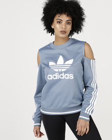 adidas Originals Active Icons Cut-Out Sweater Raw Grey
