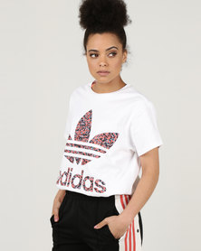adidas Originals Active Icons Big Trefoil Tee White