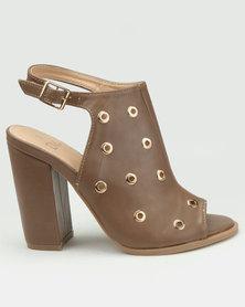 Dolce Vita Seville-704 Ankle Strap Heels Taupe