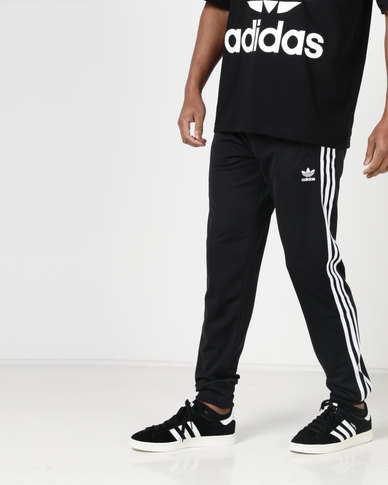 57dfa24845ad adidas Originals Mens SST Trackpants Black White