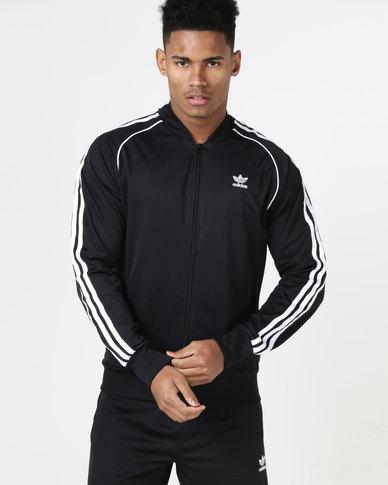 adidas Originals Mens SST Tracktop Black White
