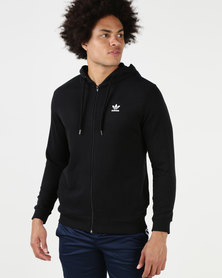 adidas Originals Mens Full Zip Hoodie Black