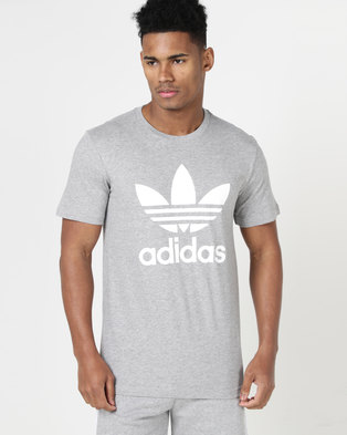 separation shoes f8707 5805c adidas Originals Mens ORG Trefoil Tee Medium Grey  Heather White   Zando