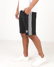 adidas Originals Mens 3 Stripe Shorts Black
