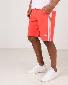 adidas Originals Mens 3 Stripe Shorts Red