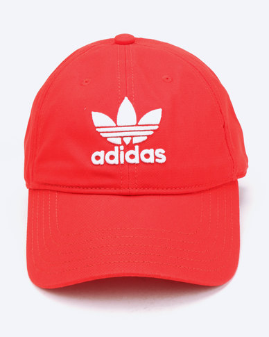 d3c8b3252a2 adidas Originals Trefoil Cap Red