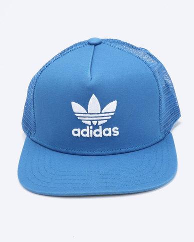 e42a4b86ae8 adidas Originals Trefoil Trucker Cap Blue