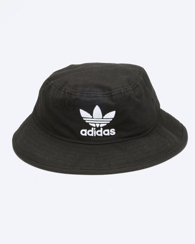 6f3914a4447 adidas Originals Trefoil Bucket Hat Black