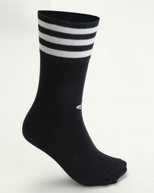 adidas Originals Unisex Solid Crew 2Pk Socks Multi