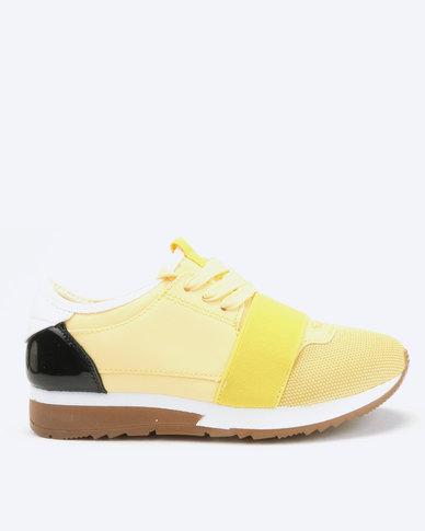 London Hub Fashion Futuristic Sneakers Yellow
