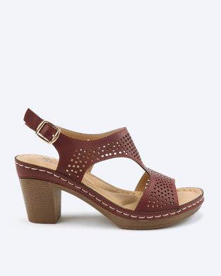 1dd66d3bbd6b Butterfly Feet Eletra Heel Sandals Burgundy