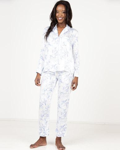 46ce3a7fa2 Women secret Fun Pyjamas White Blue