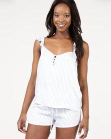 Women'secret Feminine Pyjamas White/Blue