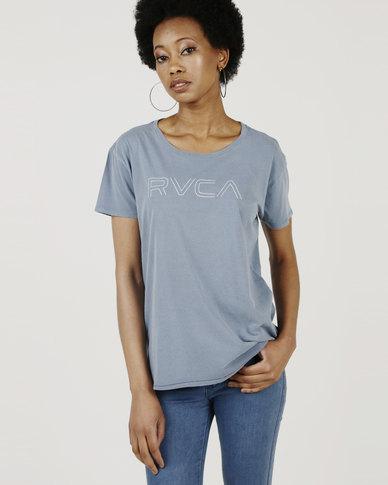 RVCA Pinner Tee Blue