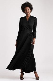MARETH & COLLEEN Meg Wrap Dress Black