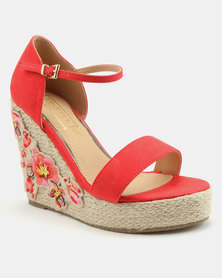 5ee189dcea8 Footwork Chloe Wedge Sandal Blue Denim
