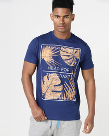 South Shore Head For The Coast T-Shirt Blue