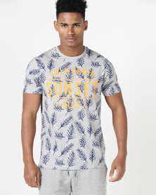 South Shore Sketch Sunset T-shirt Grey