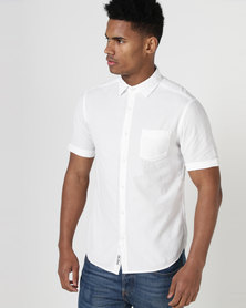 South Shore Moritz Seersucker Short Sleeve Shirt White